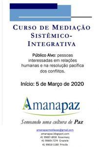 Amanapaz – Curso de Mediação Sistêmico – Integrativa
